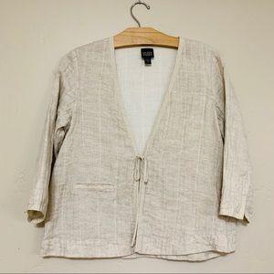 Eileen Fisher 100% linen Blazer/Jacket Size Small